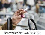 closeup of a young caucasian... | Shutterstock . vector #632885183