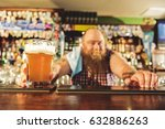 Small photo of Man arm putting alcohol beverage in alehouse