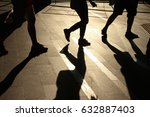 silhouette walking legs and... | Shutterstock . vector #632887403