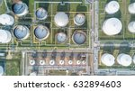 Aerial View Oil Refinery ...