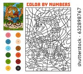 color by number  education game ... | Shutterstock .eps vector #632898767