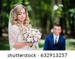 happy wedding couple in love...   Shutterstock . vector #632913257