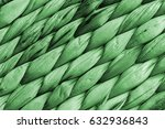 Small photo of Kelly Green Raffia Place Mat Extra Rough Plaiting Grunge Texture