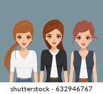 business woman in teamwork... | Shutterstock .eps vector #632946767