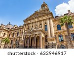 city hall in cape town south... | Shutterstock . vector #632946917