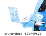 fintech investment financial... | Shutterstock . vector #632949623