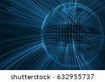 digital technology abstract... | Shutterstock . vector #632955737