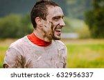 man doing a tough mudder event  ... | Shutterstock . vector #632956337