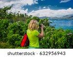 girl photographer taking a... | Shutterstock . vector #632956943
