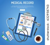 medical record concept with... | Shutterstock .eps vector #632958743