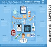 medical services infographics... | Shutterstock .eps vector #632958803