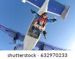 tandem master and tandem... | Shutterstock . vector #632970233
