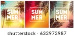 summer natural placard  poster  ... | Shutterstock .eps vector #632972987