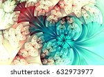 abstract fractal patterns and... | Shutterstock . vector #632973977