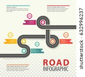 road map infographics with... | Shutterstock .eps vector #632996237