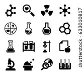 research icons set. set of 16... | Shutterstock .eps vector #633010817