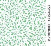 vector spring green leaves... | Shutterstock .eps vector #633021023