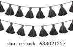 vector black double hanging... | Shutterstock .eps vector #633021257