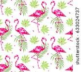 tropical trendy seamless... | Shutterstock .eps vector #633024737