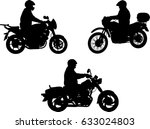 motorcyclists silhouettes  ... | Shutterstock .eps vector #633024803
