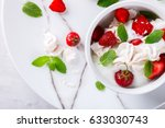 eton mess   strawberries with... | Shutterstock . vector #633030743