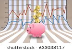 stock financial chart with... | Shutterstock . vector #633038117