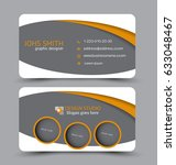 business card. design set... | Shutterstock .eps vector #633048467