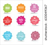 modern sale stickers collection  | Shutterstock .eps vector #633049367