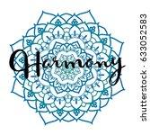 mandala vector illustration...   Shutterstock .eps vector #633052583