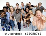 diverse group of happiness... | Shutterstock . vector #633058763