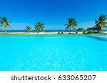 swimming pool of luxury hotel | Shutterstock . vector #633065207