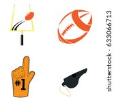 set of football related objects ...   Shutterstock .eps vector #633066713