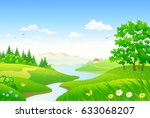 vector cartoon drawing of a... | Shutterstock .eps vector #633068207