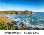 summer on cliffs above poldhu... | Shutterstock . vector #633081347