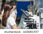 young scientist working with... | Shutterstock . vector #633081557