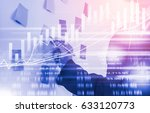double exposure man analysis... | Shutterstock . vector #633120773