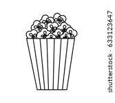 pop corn snack | Shutterstock .eps vector #633123647