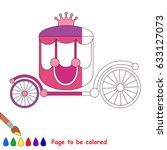 pink princess chariot  the...   Shutterstock .eps vector #633127073