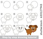 kid game to develop drawing... | Shutterstock .eps vector #633127943