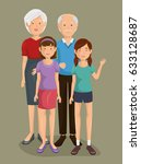 couple of grandparents with... | Shutterstock .eps vector #633128687