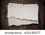 lined paper textured on wood... | Shutterstock . vector #633130277