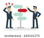 businessman standing at...   Shutterstock .eps vector #633131273