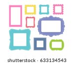 set of cartoon picture frames... | Shutterstock .eps vector #633134543