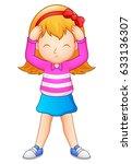 cute girl cartoon | Shutterstock . vector #633136307