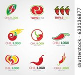 chili logo design template.... | Shutterstock .eps vector #633136877