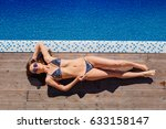 beautiful slim sexy woman in a... | Shutterstock . vector #633158147