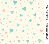 seamless pattern with tiny... | Shutterstock .eps vector #633160757
