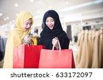 protrait beautiful muslim women ... | Shutterstock . vector #633172097