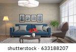 interior living room. 3d... | Shutterstock . vector #633188207