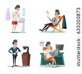coffee break at work.... | Shutterstock .eps vector #633203873